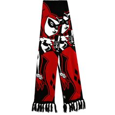 DC Comics Harley Quinn Scarf Hot Topic ($21) ❤ liked on Polyvore featuring accessories, scarves, black and white scarves, red scarves and red shawl