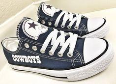 2fd5649cc41 Custom DALLAS COWBOYS Womens & Mens Low Tops by Coast2coastkicks Dallas  Cowboys Shoes, Dallas