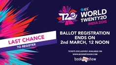 Cricket fever starts this month, Hurry! reg closes tomorrow at noon #T20withBMS
