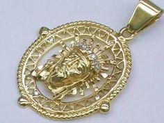 14K Gold Jesus Face Piece with Diamonds * 14K Gold Diamond Jesus Head Pendant * $299