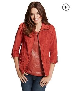 Chico's Petite Zenergy Finley Suede Detail Jacket #chicos chicossweeps