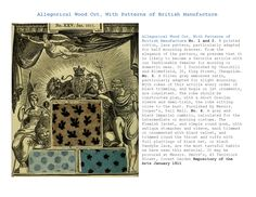 Allegorical Wood Cut, With Patterns of British Manufacture Repository of the Arts January 1811