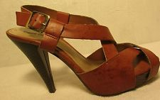 Sz 8 M Pierre Dumas Brown Spec Strappy  Heels
