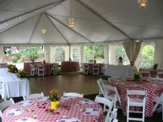 Picnic Theme Wedding Reception | Past Weddings at Stone Mountain : Stone Mountain Lodge and Cabins