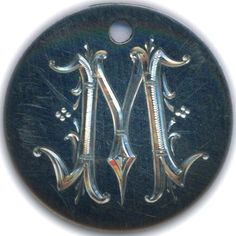 DIMAS SÁNCHEZ MORADIELLOS LOVE TOKEN - ENGRAVED LETTER 'M' - NO DATE BUFFALO NICKEL Hand Engraving, Spoon Rest, Metal Art, Carving, Brooch, Buffalo, Jewelry, M Letter, Coins