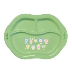 Green Sprouts Eco-Friendly Cornstarch Divided Plate – Green