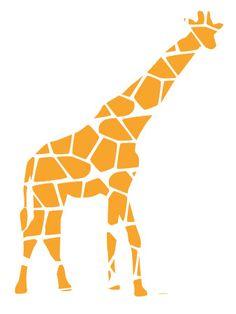 orange giraffe print--nursery