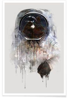 The Astronaut als Premium Poster von Dániel Taylor | JUNIQE