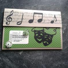 Verpackung für einen Gutschein für ein Musical
