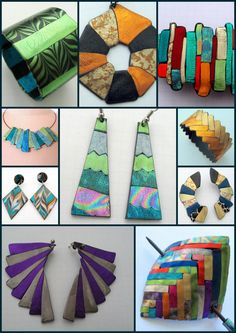 Friendly Plastic Tutorial INTRO Side by Side Digital Download - Barbara Lees on etsy. These are fab pieces!