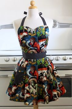 Classic Horror Movies Apron @brittany Nicole ...I wanna make this when we do our aprons