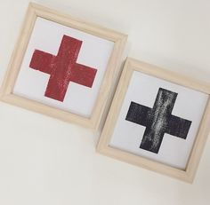 Swiss Cross red and white/ red and black sign #swisscross