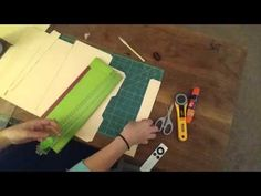 Lapbook: My way: Tutorial Part One - YouTube