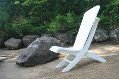 "I have been thinking about how to do this one for a long time. There are lots of quick and easy 2 piece beach chairs out there, but all incorporate horizontal slats and horizontal support bars.  My goal was to keep true to my Adirondack designs with the comfortable curved back and seat, yet make a portable beach chair that can fully recline into a different position. By incorporating 1"" dowels as support cross bars with heavy gauge brass furniture screws for extra strength, I was able to…"