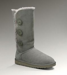 UGG Bailey Button Triplet 1873 Grey For Sale In UGG Outlet - $107.24 Save more than $100, Free Shipping, Free Tax, Door to door delivery