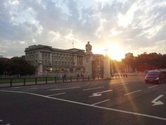 Buckingham palace at sunset