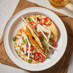 In this mahi-mahi fish taco recipe, chili-coated fish gets a lovely crust from the hot pan. The creaminess of the avocado sauce complements the crisp crunch of the jicama, and it's all pulled together in 20 minutes. Fish Recipes, Seafood Recipes, Mexican Food Recipes, Ethnic Recipes, Tilapia Recipes, Ww Recipes, Seafood Dishes, Summer Recipes
