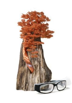 Bonsai Wire Tree | Wire Tree Sculpture | Driftwood Sculpture | Copper Sculpture | Metal Art | Copper Wire | Home Decor | Metal Sculpture