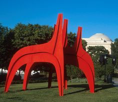 Cheval Rouge (Red Horse) by Alexander   Calder