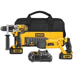 DEWALT 20-Volt Max Lithium-Ion Cordless Hammer Drill and Reciprocating Combo Kit (2-Tool) $349.00 #BestReviews
