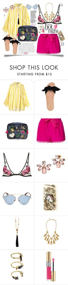 """A hot Summer Night"" by jalouze ❤ liked on Polyvore featuring Bill Blass, Figue, Fleur du Mal, Marchesa, Christian Dior, Oscar de la Renta, Rachel Zoe, Noir Jewelry, Yves Saint Laurent and GALA"
