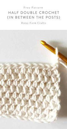 Free Pattern – Half Double Crochet (in between the posts) – Knitting patterns, knitting designs, knitting for beginners. Crochet Hook Set, Love Crochet, Crochet Gifts, Diy Crochet, Crochet Mandala, Crochet For Beginners Blanket, Crochet Patterns For Beginners, Crochet Tutorials, Crochet Stitches Patterns