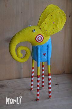 circus elephant by MarLitoys on Etsy