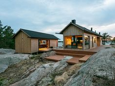 A minimalist off-grid coastal home away from home that holiday dreams are made of. Meet Project-Ö by a self… Modern Architecture House, Architecture Design, Island Design, Tiny House Design, Cabins In The Woods, Coastal Homes, My House, Villa, Cottage