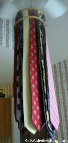 Tie Windsock - great DIY gift for a man that can be made by kids