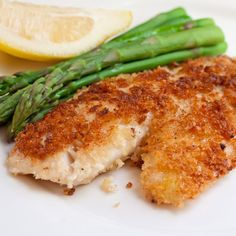 Parmesan Crusted Tilapia Recipe - mix parmesan, paprika, parsley, salt pepper - drizzle tilapia with olive oil and dredge in mix - bake at 400 for 10 - 12 minutes. Check out the website Fish Dishes, Seafood Dishes, Seafood Recipes, New Recipes, Dinner Recipes, Cooking Recipes, Healthy Recipes, Favorite Recipes, Main Dishes