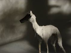 Needle Felted Animals, Felt Animals, Abstract Painting Techniques, Dog Sculpture, Animal Masks, Fabric Art, Dog Art, Paper Art, Animation