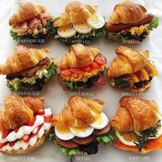 Food Platters, Food Dishes, Comida Picnic, Croissant Sandwich, Good Food, Yummy Food, Cooking Recipes, Healthy Recipes, Cafe Food