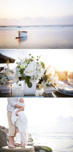 Lots of cute pics on this blog - kinda a rustic nautical thing going on.  Love the reception lights