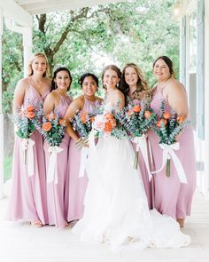 Lovely shades of lavender for the perfect spring or summer bridal party! | #lavenderbridesmaids #purplebridesmaiddresses #lavenderbridesmaiddresses | Style F20064, F20065, F19953, F19773 in Lavender Haze | Shop these styles and more at davidsbridal.com | Photo by: @rootedtrumpetphotography Pastel Wedding Colors, Purple Wedding Decorations, Gold Wedding Theme, Pink And Gold Wedding, Green Wedding, Summer Wedding, Wedding Ideas, Bridal Party Dresses, Wedding Dresses