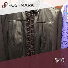 Peter nygard black leath Peter nygard black leather sweater sleeves peter nygard Jackets & Coats Blazers