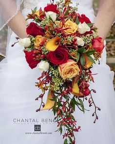 October wedding bouquet in Ottawa, Ontario