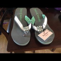 Beautiful Juicy Couture wedges Love these sandles. Bought myself a pair. Juicy Couture Shoes