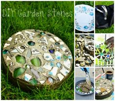 Creative Ideas - DIY Mosaic Garden Stepping Stone with a Cake Pan   iCreativeIdeas.com Follow Us on Facebook --> https://www.facebook.com/iCreativeIdeas