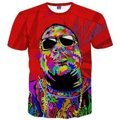 Biggie Smalls Trippy T-shirt Psychedelic, trippy clothes, cool, streetwear, trippy art, cannabis, 420, marijuana, kush, notorious, the living legend, rapper, rappers, spitting rhymes, music, rap, life, colourful blast, colorful.