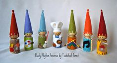 Create your own set of Daily Rhythm Gnomes! Choose FOUR of the seven listed below. Please put your choices in the comments of the order. Thank