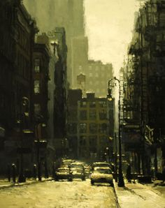 Soho by Jeremy Mann. Landscape Concept, Urban Landscape, San Francisco, Landscaping Near Me, Cityscape Art, Architecture Drawings, Urban Life, Beautiful Paintings, Contemporary Paintings