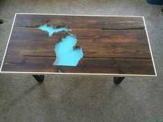 Michigan Coffee Table Home Decor State Of Made Room