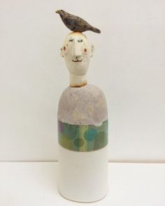 """Bird head"" by Jane Muir, ceramic stoneware, 33 x 10cm, £395."