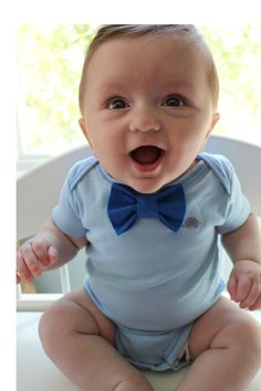 6 month Baby boy Bow Tie Onesie/Bodysuit by JpszDesigns on Etsy, $22.00