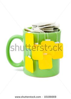 Tea Bags In Cup, Isolated On White Background Stock Photo 10186669 : Shutterstock