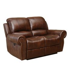 Abyson Living Sterling Top Grain Leather Power Reclining Loveseat