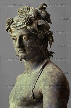 Dionysus or Bacchus.   Bronze statue from Pompeii, Italy; 1st-3rd century CE.
