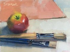 "Daily Paintworks - ""Preparing to Paint"" - Original Fine Art for Sale - © Candace Brancik"