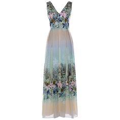 Φόρεμα Maxi σε Εμπριμέ Βουάλ