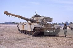 Chieftain tank (of British manufacture). Base of Iranian moudjahidins in Iraq, on May, 1991. FDM